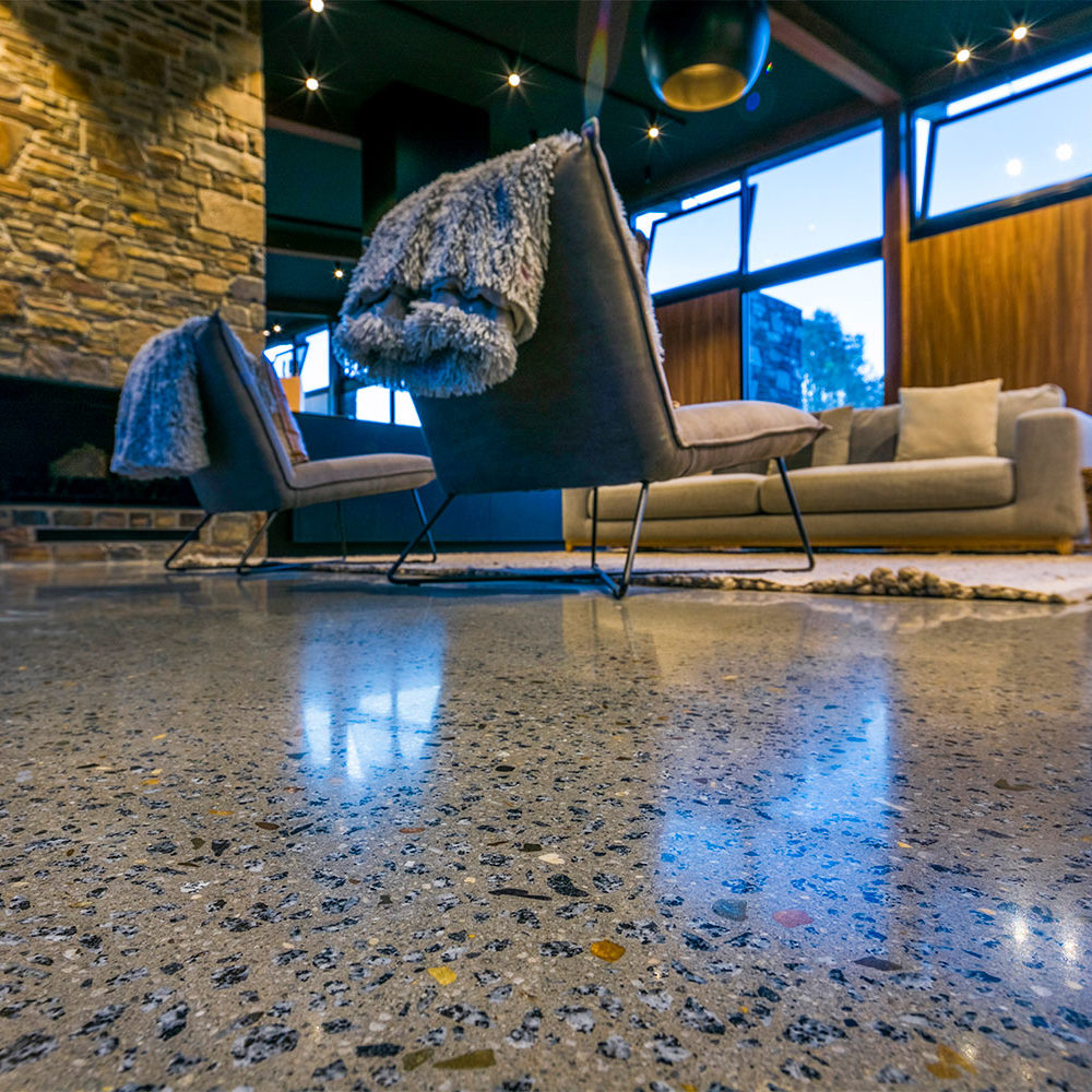 polished concrete floors invermay, satin gloss geoshine