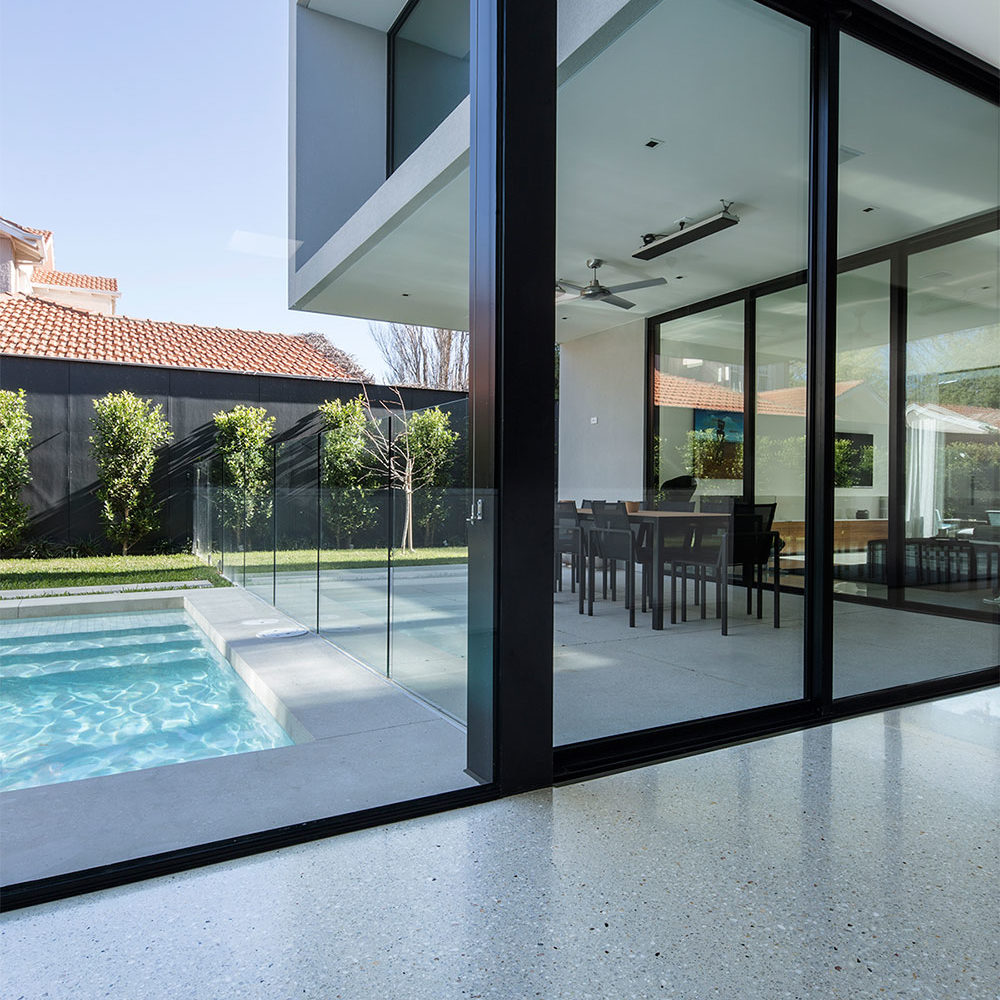 polished concrete floors melbourne, brighton, top 10 themed homes in australia 2015