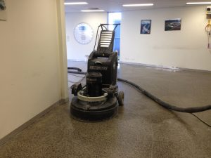 mechanically polishing floors with HTC 950 RX